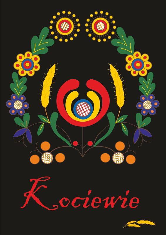 Plakat Haft Kociewie Czarne Rak